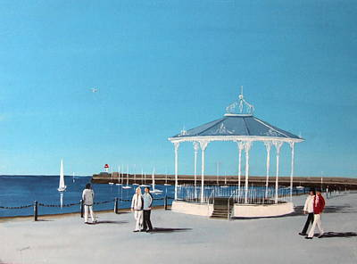 Bandstand Painting - East Pier Bandstand by Tony Gunning
