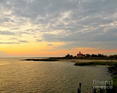 Photograph - East Point Lighthouse At Dusk  by Nancy Patterson