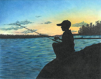 Drawing - East Pond by Troy Levesque
