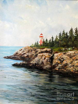 New England Lighthouse Painting - East Quoddy Head Light by Lee Piper