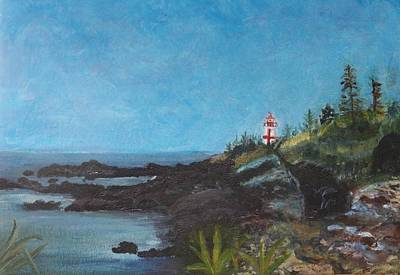 East Quoddy Lighthouse Painting - East Quoddy Head Lighthouse by Donna Walsh
