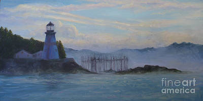 East Quoddy Lighthouse Painting - East Quoddy Light by Julie Hart