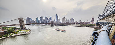 Photograph - East River Between Brooklyn Bridge And Manhattan Bridge by Alex Potemkin