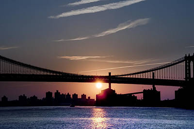 Brooklyn Bridge Photograph - East River Sunrise - New York City by Bill Cannon