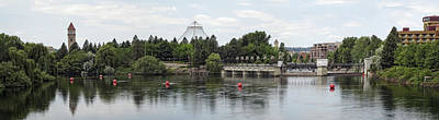 East Riverfront Park And Dam - Spokane Washington Art Print by Daniel Hagerman