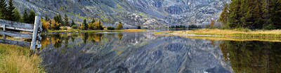 Montana Landscape Photograph - East Rosebud Lake Fall Panorama by Roger Snyder