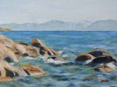 East Shore Rocks Art Print