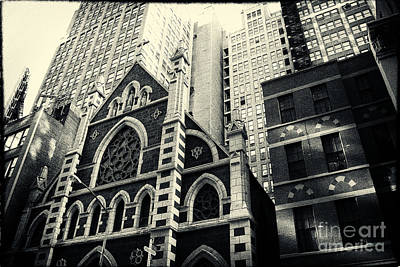 Midtown Faith New York City Art Print by Sabine Jacobs
