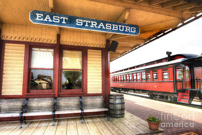 East Strasburg Station Art Print by Paul W Faust -  Impressions of Light