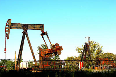 Oil Pumper Photograph - East Texas Oil Field by Kathy  White
