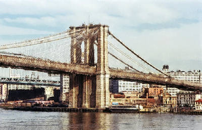 East Tower Brooklyn Bridge - New York Art Print