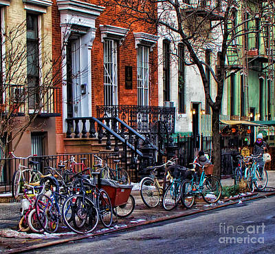 Photograph - East Village Bicycles by Betsy Foster Breen