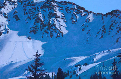 Colorado Ski Art Wall Art - Painting - East Wall by Drew Gibson