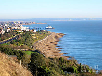 Photograph - Eastbourne Coast And Pier From Above by Art Photography