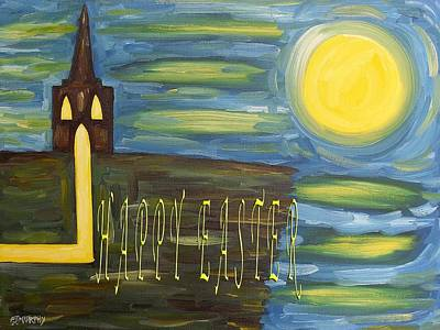Gods Sunshine Art Painting - Easter 28 by Patrick J Murphy