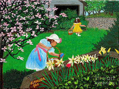 Painting - Easter At Grandma's by Edward Fuller