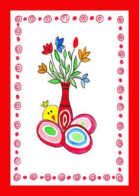 Painting - Easter Bouquet  by Irina Sztukowski