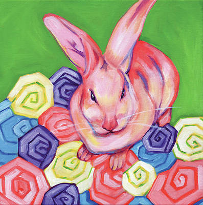 Easter Bunny Painting - Easter Bunny by Anne Seay