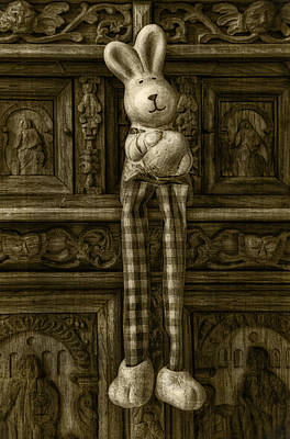 Easter Bunny From The Past Art Print by Gynt