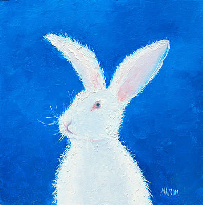 Interior Design Painting - Easter Bunny by Jan Matson