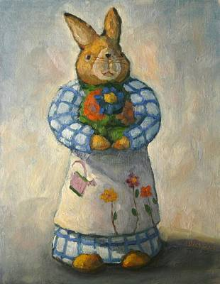 Painting - Easter Bunny by Jeff Dickson
