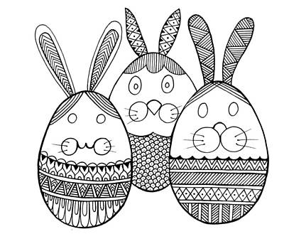 Fun Drawing - Easter Bunny by Neeti Goswami