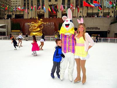 Photograph - Easter Bunny On Ice by Ed Weidman
