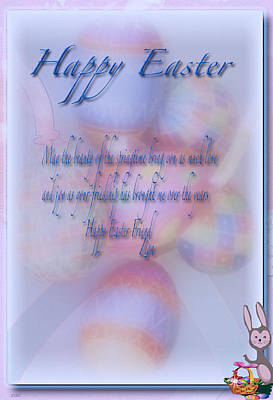 Photograph - Easter Card Poem 1 by Debra     Vatalaro