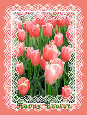 Photograph - Easter Card With Tulips by Rosalie Scanlon