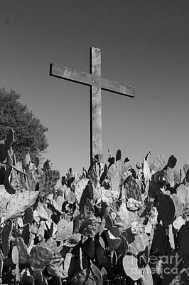 Photograph - Easter Cross Black And White by Jeanette French
