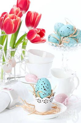 Easter Egg Setting Art Print
