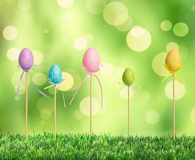 Photograph - Easter Eggs by Amanda Elwell