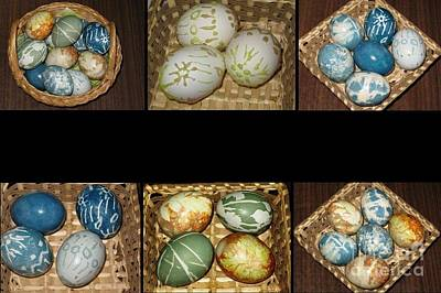 Photograph - Easter Eggs. Easter Collage Series by Ausra Huntington nee Paulauskaite