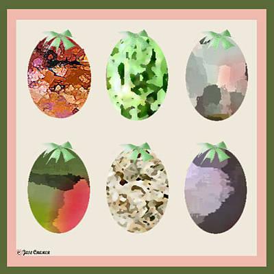 Easter Eggs Art Print by Gail Cramer