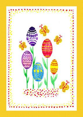 Painting - Easter Eggs Garden by Irina Sztukowski
