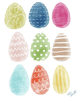 Easter Egg Painting - Easter Eggs by Katie Doucette