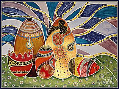 Painting - Easter Eggstravaganza by Jolanta Anna Karolska