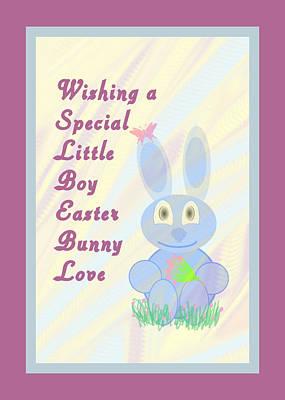 Easter For Small Boy Art Print by Rosalie Scanlon