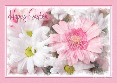 Digital Art - Easter Gerberas by JH Designs