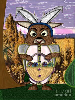 Digital Art - Easter Greetings by NightVisions