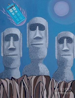 Painting - Easter Island Revisited by Anthony Morris
