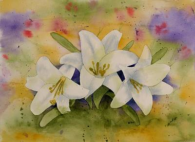 Painting - Easter Lilies by Brett Winn