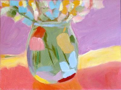 Easter Mason Jar Original by Molly Fisk