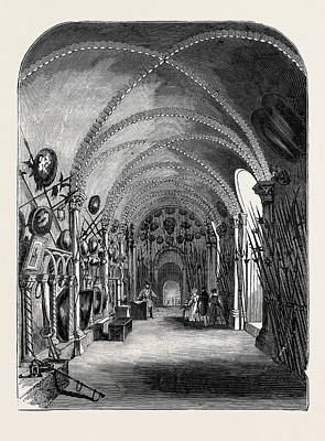 Tower Of London Drawing - Easter Monday, The Elizabethan Armoury by English School
