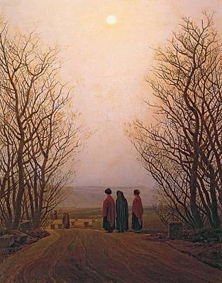 Photograph - Easter Morning, 1833 Oil On Canvas by Caspar David Friedrich