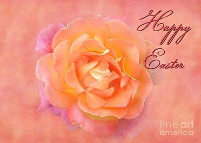 Digital Art - Easter Multi Rose by JH Designs