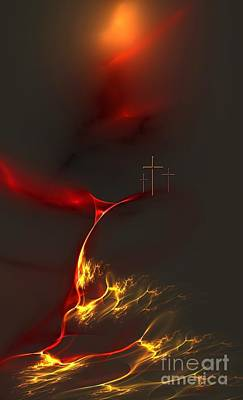 Digital Art - Easter On Golgotha by Greg Moores