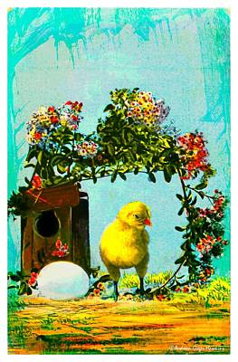 Photograph - Easter Postcard Vintage 1908 by Audreen Gieger