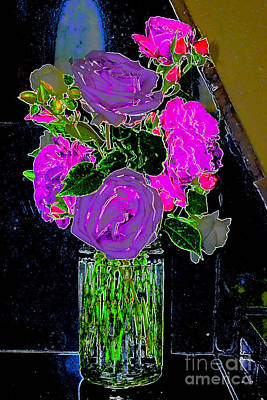 Photograph - Easter Roses 1 by Diane montana Jansson