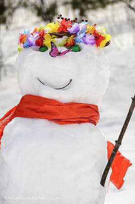 Snowman Photograph - Easter Snowman by LeeAnn McLaneGoetz McLaneGoetzStudioLLCcom